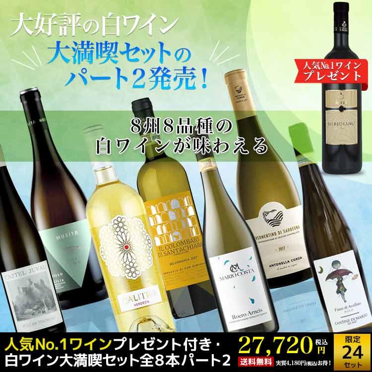 人気No.1ワインプレゼント付き・白ワイン大満喫セット全8本パート2