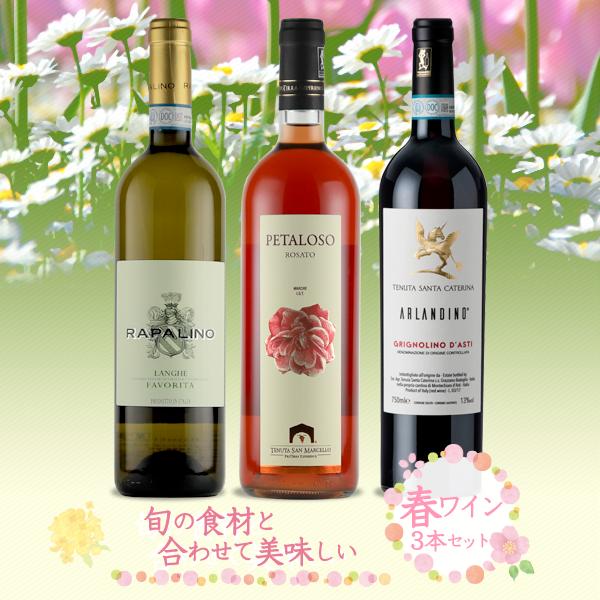 【限定10セット】旬の食材と合わせて美味しい春ワイン3本セット