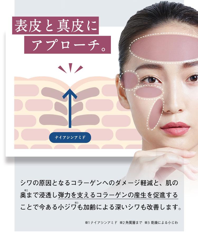表皮と真皮にアプローチ。