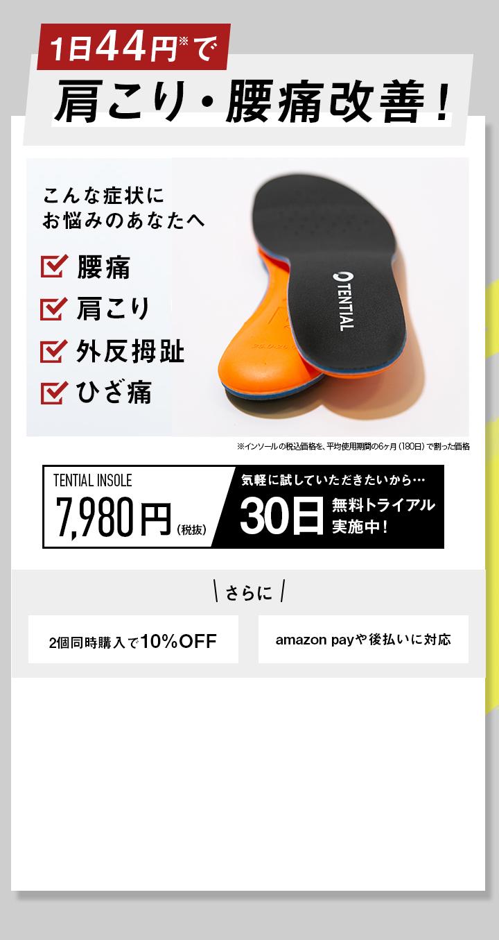 TENTIAL ZERO テンシャルゼロ インソール! 7,980円(税抜)