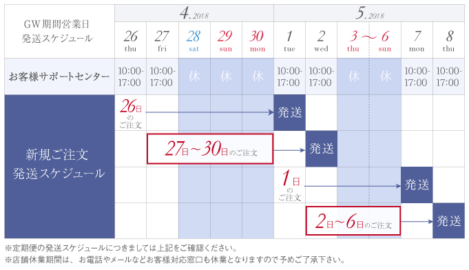 ゴールデンウィークスケジュールカレンダー
