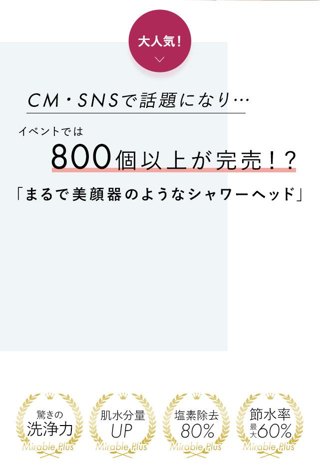CM・SNSで話題になり…イベントでは800個以上が完売!?「まるで美顔器のようなシャワーヘッド」