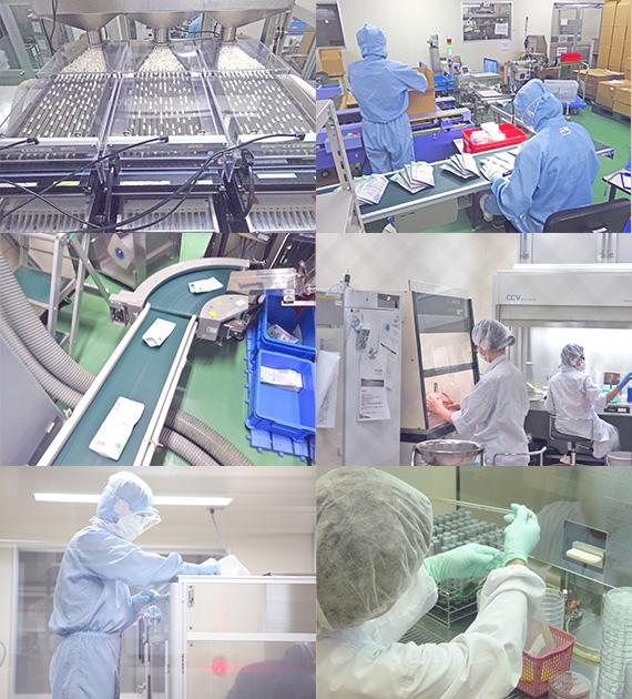 写真:国内工場で製品を製造している様子