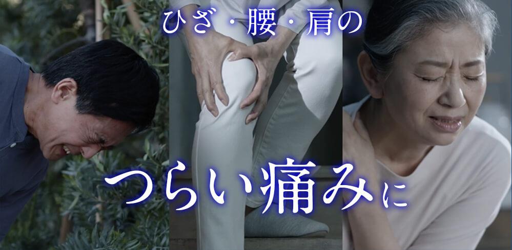 ひざ・腰・肩のつらい痛みに1日1回貼るだけでじかに効く!