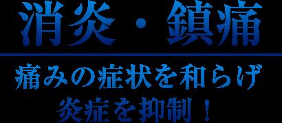 【消炎・鎮痛】痛みの症状を和らげ 炎症を抑制!