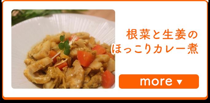 根菜と生姜のほっこりカレー煮