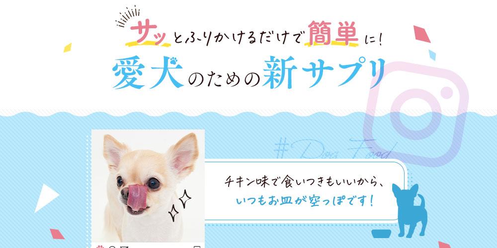 愛犬のための新サプリ