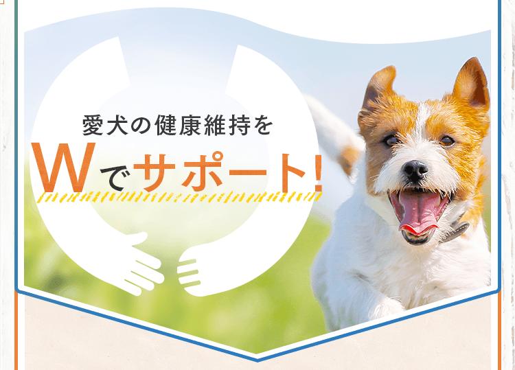 愛犬の年齢をWでサポート!