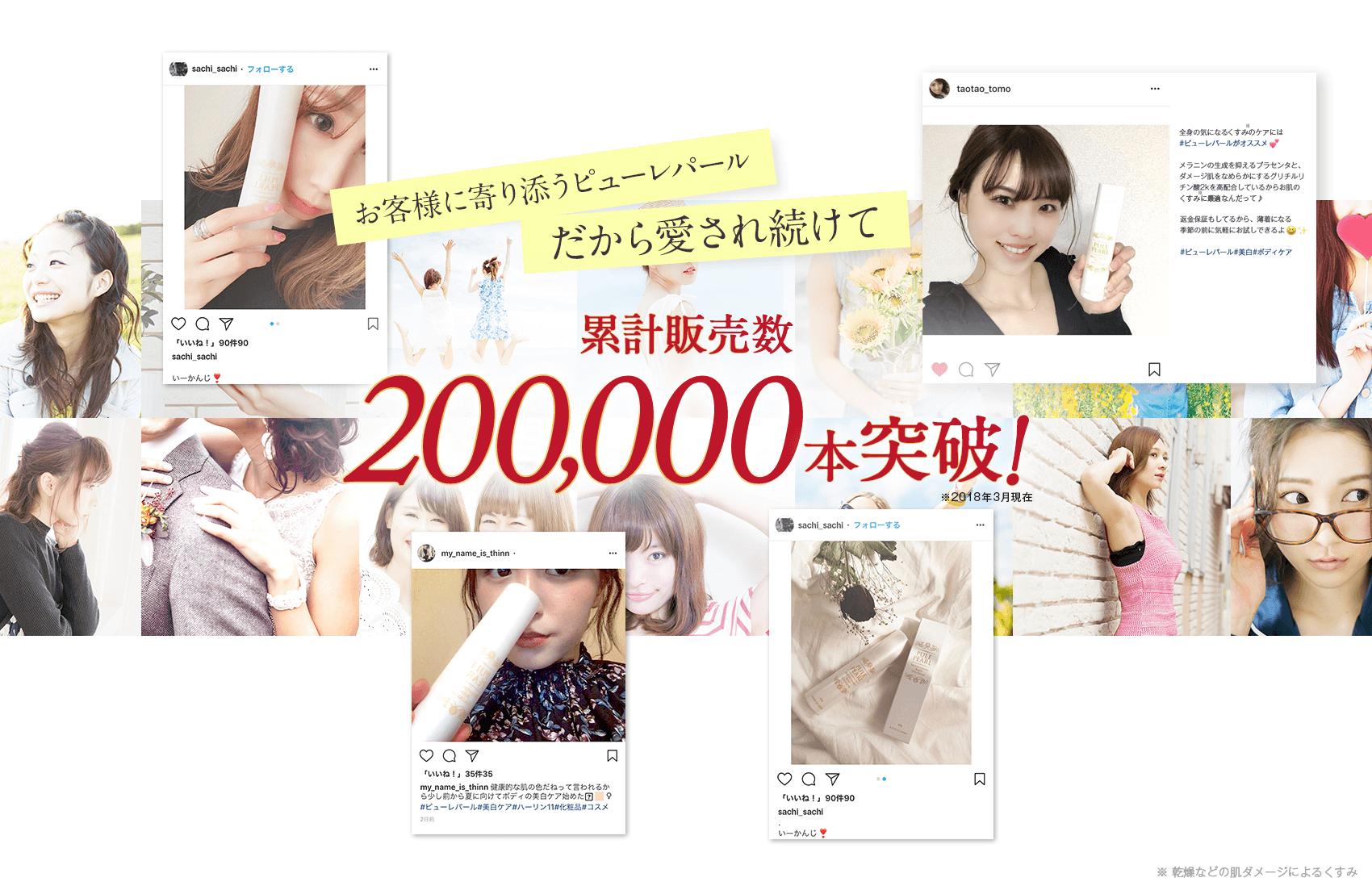 累計販売数200000本突破