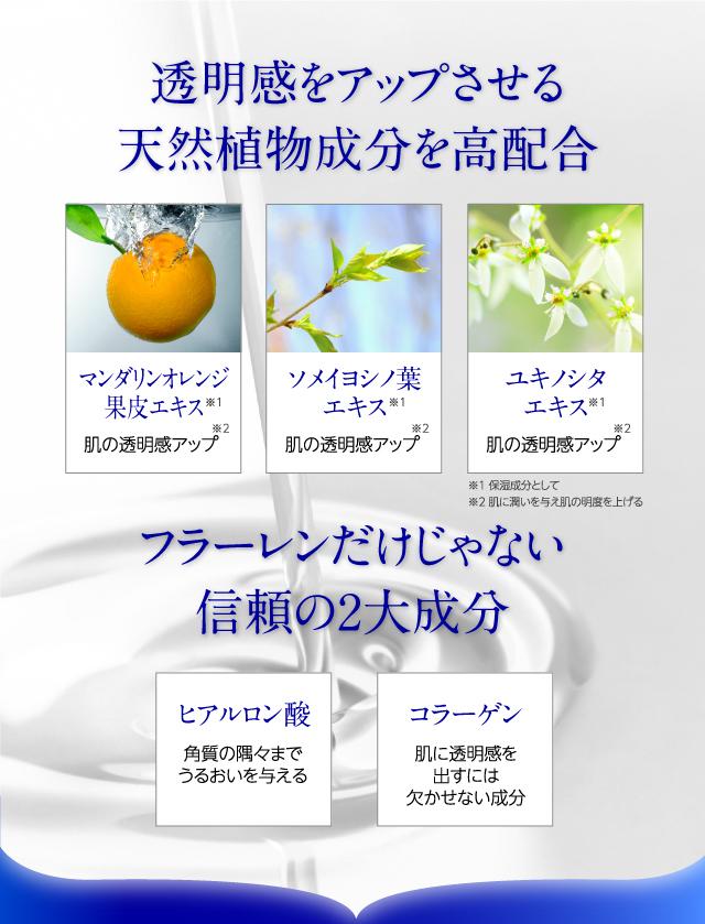 さらに、美白※1にアプローチする天然植物成分を高配合