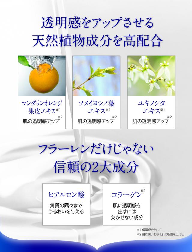 透明感をアップさせる天然植物成分を高配合