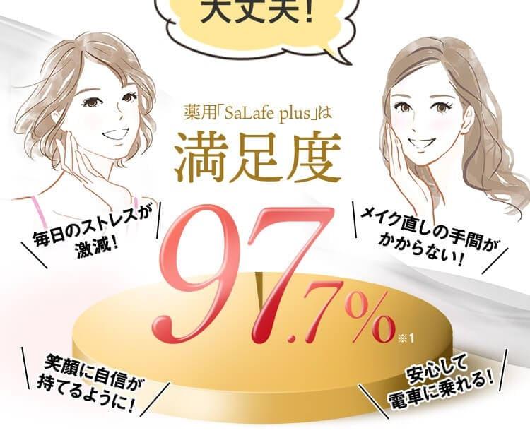 でも大丈夫! 薬用「SaLafe plus」は満足度97.7%