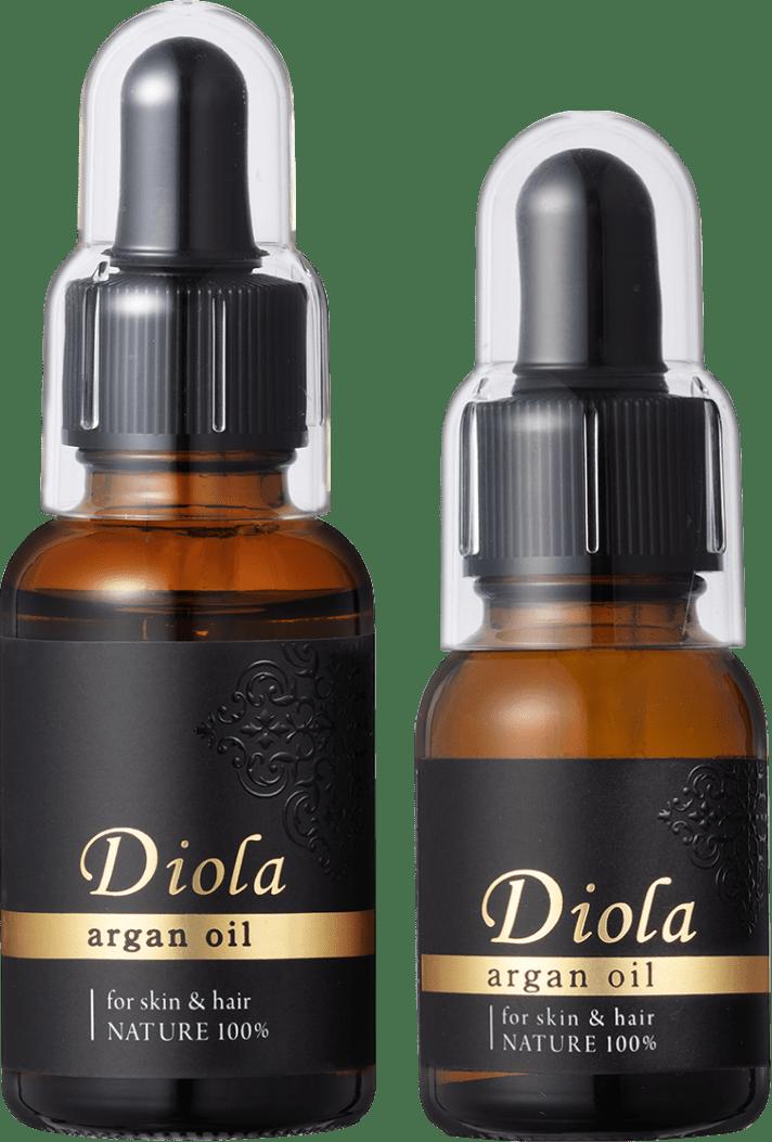 DIOLA(ディオラ)モロッコの黄金の1滴が、肌や髪に潤いとハリを。