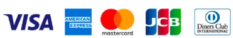 VISA・American Express・Master Card・JCB・Diners Club