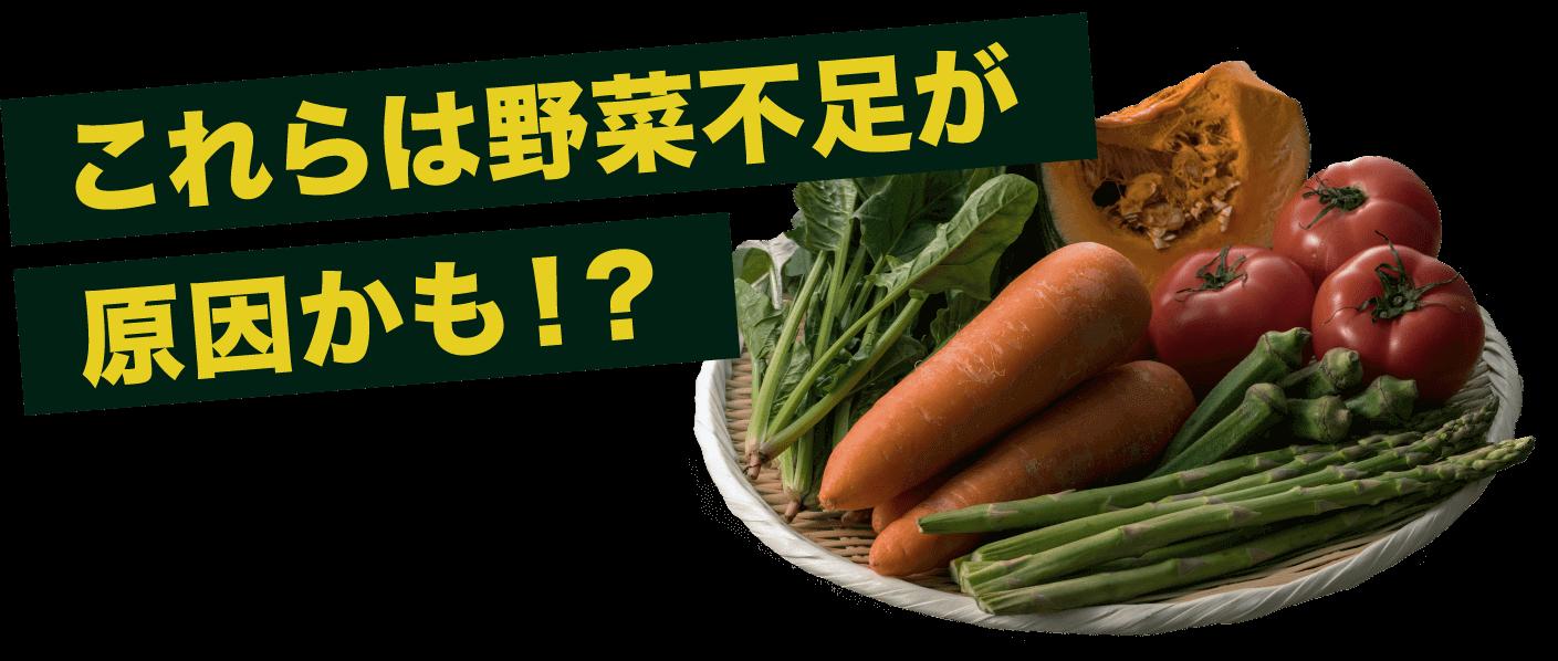 これらは野菜不足が原因かも!?
