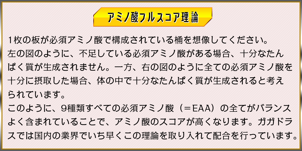 EAA配合によるアミノ酸フルスコア理論